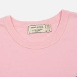 Женская футболка Maison Kitsune Fox Head Patch Pink фото- 1