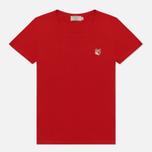Женская футболка Maison Kitsune Fox Head Patch Red фото- 0