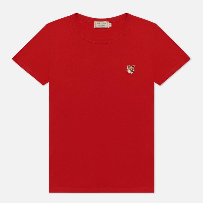 Женская футболка Maison Kitsune Fox Head Patch Red