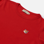 Женская футболка Maison Kitsune Fox Head Patch Red фото- 1