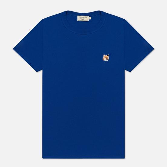 Женская футболка Maison Kitsune Fox Head Patch Royal Blue