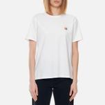 Женская футболка Maison Kitsune Fox Head Patch White фото- 2