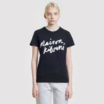 Женская футболка Maison Kitsune Handwriting Black фото- 3