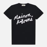 Женская футболка Maison Kitsune Handwriting Black фото- 0