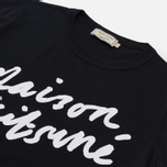 Женская футболка Maison Kitsune Handwriting Black фото- 1