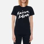 Женская футболка Maison Kitsune Handwriting Black фото- 2