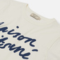 Женская футболка Maison Kitsune Handwriting Latte фото - 1
