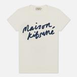 Женская футболка Maison Kitsune Handwriting Latte фото- 0