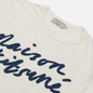 Женская футболка Maison Kitsune Handwriting Latte фото - 1