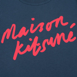 Женская футболка Maison Kitsune Handwritting Blue Storm фото- 2