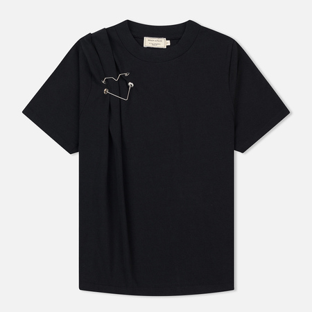 Женская футболка Maison Kitsune Heart Brooch Black