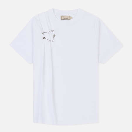 Женская футболка Maison Kitsune Heart Brooch White
