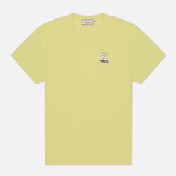 Женская футболка Maison Kitsune Hologram Triangle Fox Patch Lemon