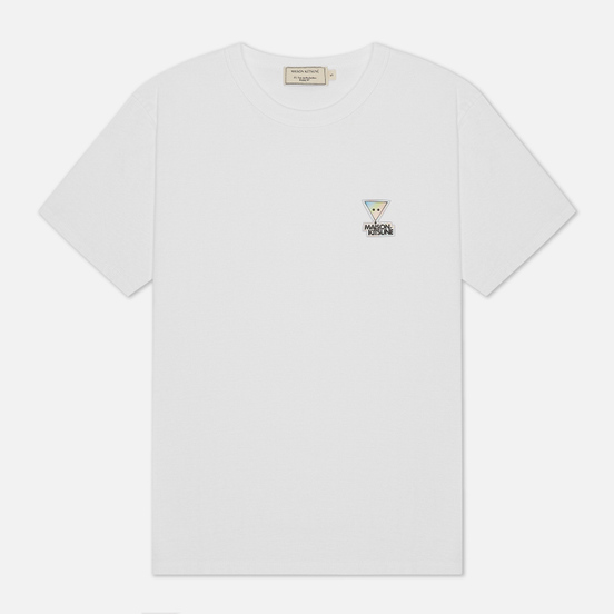 Женская футболка Maison Kitsune Hologram Triangle Fox Patch White