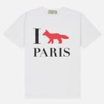 Женская футболка Maison Kitsune I Fox Paris White фото- 0