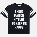 Женская футболка Maison Kitsune I Need Black фото- 0