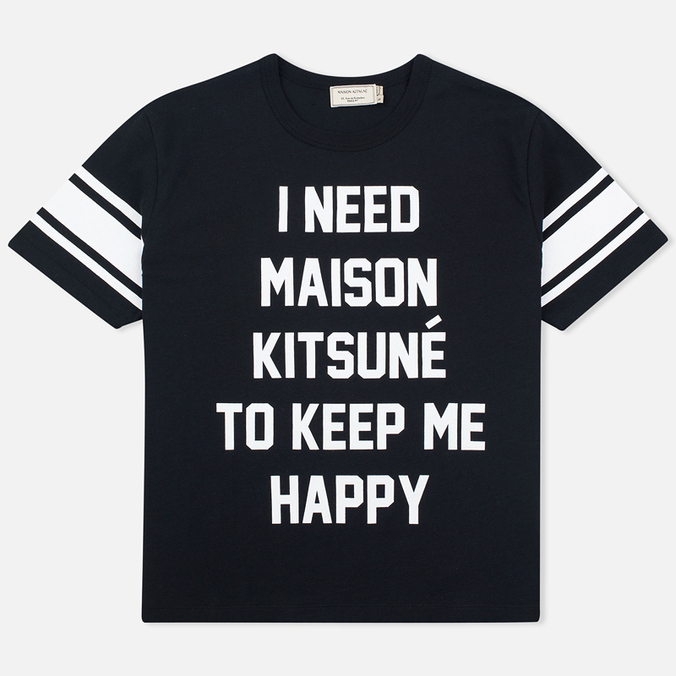Женская футболка Maison Kitsune I Need Black