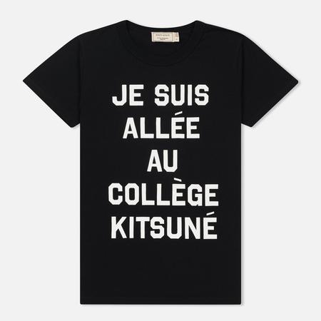 Женская футболка Maison Kitsune Je Suis Allee Black
