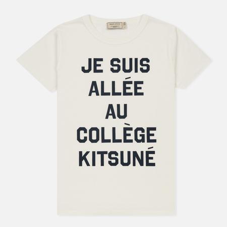 Женская футболка Maison Kitsune Je Suis Allee Latte