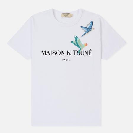 Женская футболка Maison Kitsune Love Birds White