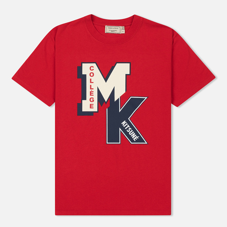Женская футболка Maison Kitsune MK College Red