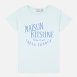 Женская футболка Maison Kitsune Palais Royal Aqua Verde фото- 0