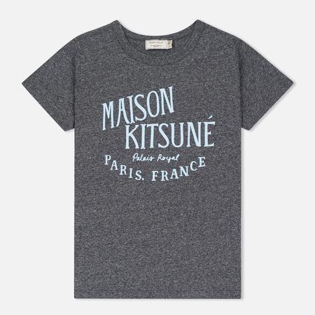 Maison Kitsune Женская футболка Palais Royal Black Melange