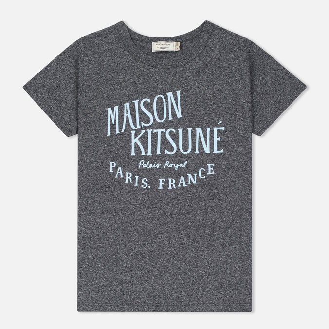 Женская футболка Maison Kitsune Palais Royal Black Melange