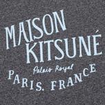 Женская футболка Maison Kitsune Palais Royal Black Melange фото- 2