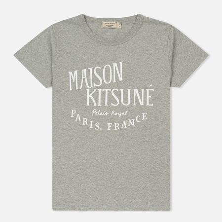 Женская футболка Maison Kitsune Palais Royal Grey Melange