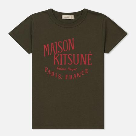 Женская футболка Maison Kitsune Palais Royal Khaki
