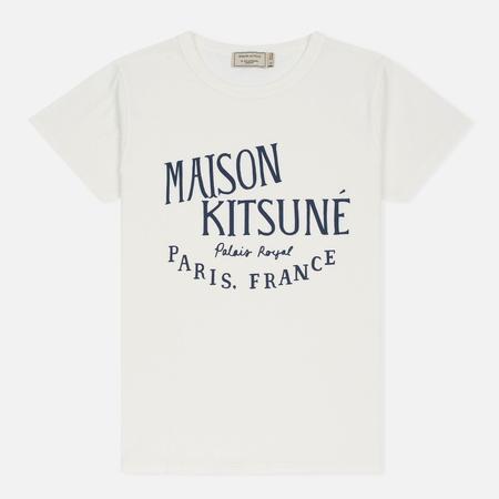 Женская футболка Maison Kitsune Palais Royal Latte