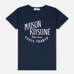 Женская футболка Maison Kitsune Palais Royal Navy фото- 0