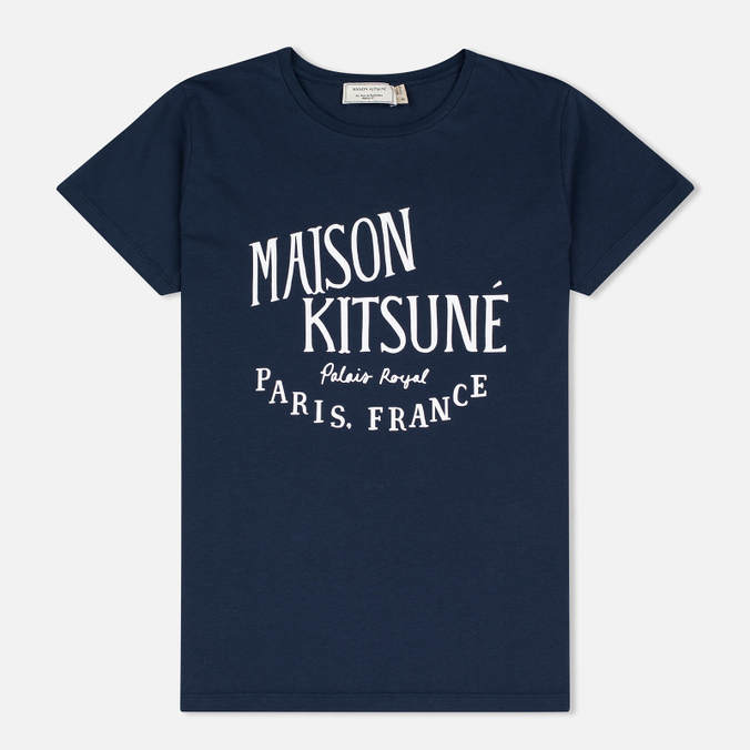 Женская футболка Maison Kitsune Palais Royal Navy