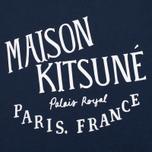 Женская футболка Maison Kitsune Palais Royal Navy фото- 2