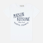 Женская футболка Maison Kitsune Palais Royal White фото- 0
