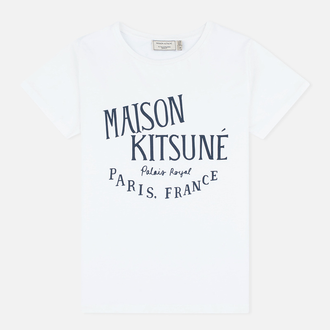 Женская футболка Maison Kitsune Palais Royal White