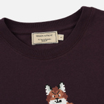 Женская футболка Maison Kitsune Pixel Fox Burgundy фото- 1