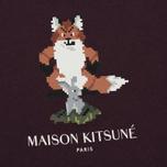 Женская футболка Maison Kitsune Pixel Fox Burgundy фото- 2