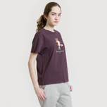 Женская футболка Maison Kitsune Pixel Fox Burgundy фото- 4