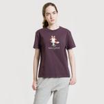 Женская футболка Maison Kitsune Pixel Fox Burgundy фото- 3