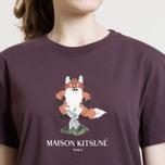 Женская футболка Maison Kitsune Pixel Fox Burgundy фото- 6