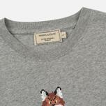 Женская футболка Maison Kitsune Pixel Fox Grey Melange фото- 1