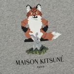 Женская футболка Maison Kitsune Pixel Fox Grey Melange фото- 2