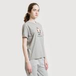 Женская футболка Maison Kitsune Pixel Fox Grey Melange фото- 4