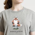 Женская футболка Maison Kitsune Pixel Fox Grey Melange фото- 5