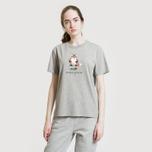 Женская футболка Maison Kitsune Pixel Fox Grey Melange фото- 3