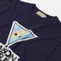 Женская футболка Maison Kitsune Rainbow Triangle Fox Print Navy фото - 1
