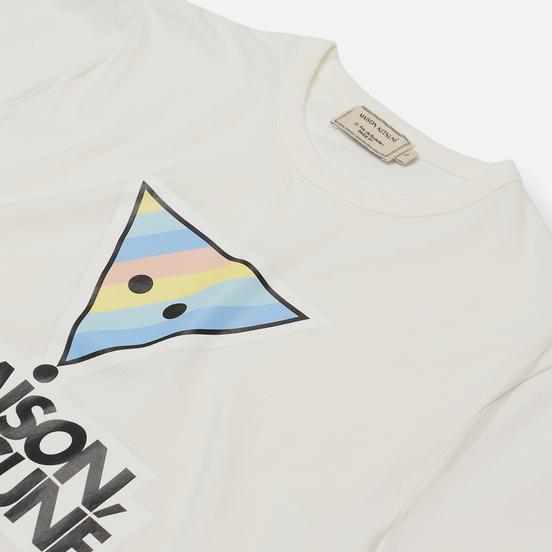 Женская футболка Maison Kitsune Rainbow Triangle Fox Print White