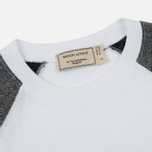 Женская футболка Maison Kitsune Sequins 3/4 Sleeves White/Silver фото- 1